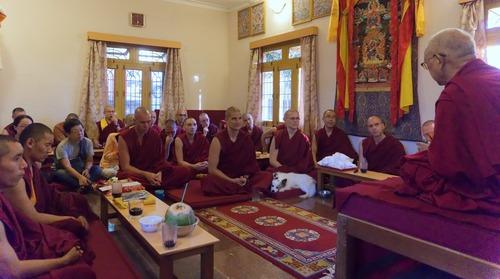 Rinpoche at Sera IMI House